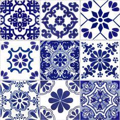 Tile Stickers for Kitchen Bath or Floor Waterproof ChinaBlue Kitchen Backsplash Ideas Bath ChinaBlue floor kitchen Stickers Tile Waterproof Tile Decals, Vinyl Decals, Bad Wand, Tuile, Tile Art, Wall Tile, Bathroom Wall, Bathroom Decals, Tile Patterns
