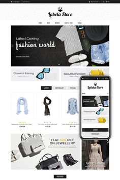 Latest Fashion World Online Store #OpenCart #webtemplate #themes #business #responsive #template