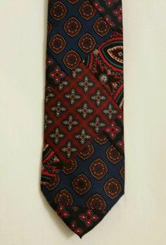 NEW Robert Talbott Geometric 100% Silk Multi Color Classic  Mens Neck Tie #RobertTalbott #NeckTie