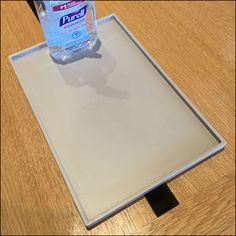 Apple CoronaVirus Personal Sanitizer Tray Floor Graphics, Retail Fixtures, Flu Remedies, Miniature Bottles, Retail Merchandising, Wood Tray, Tech Support, Trays, Water Bottle