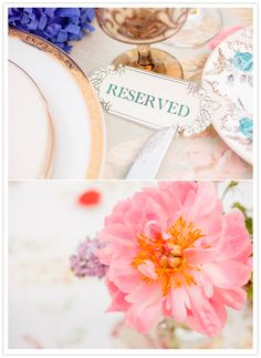 bright floral details and antique plates