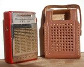 YES! Holy cow, I'd forgotten..transistor radios with leather cases. WOW!