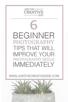 6 photography tips that will improve your photography skills immediately without spending money. 5 of 6 tips are free!