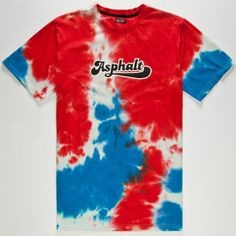 ASPHALT YACHT CLUB Tie Dye Script Mens T-Shirt #AYC #tiedye