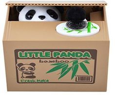 Panda Coin Stealing Bank takes your money #funny #kids #toys