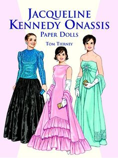 Jacqueline Kennedy Onassis Paper Dolls, Tierney 1999. This is also listed at my site at http://www.dkkdolls.com/store as Item No. DOV0006 of Jacqueline Kennedy Onassis. It is $12.00.