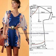 Moldes Moda por Medida: VESTIDO FÁCIL DE FAZER - 6