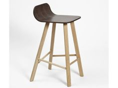 High wood veneer stool with footrest Tria Collection by Colé Italian Design Label Toddler Table And Chairs, Shabby Chic Table And Chairs, Cafe Furniture, Dining Room Furniture, Childrens Rocking Chairs, High Stool, Coffee Painting, Modern Bar Stools, Wood Stool