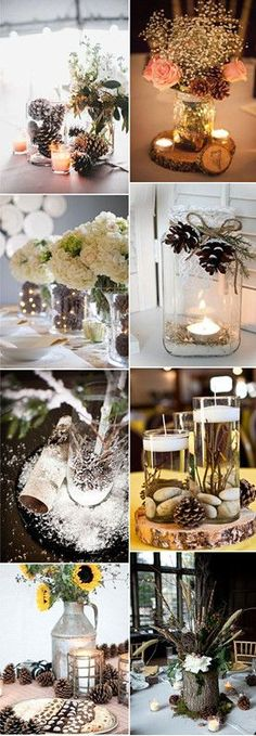 Pinecones are nowadays very popuplar among brides and grooms not only because of their special look, but also because of the rustic charm it brings to your wedding. for winter weddings, it is commonly considered that it is a dull and boring season for your once-in-a-life event.