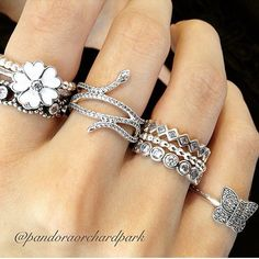 Pandora rings #pandora #pandorarings #pandoraring #pandorasetrings