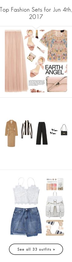 """Top Fashion Sets for Jun 4th, 2017"" by polyvore ❤ liked on Polyvore featuring Needle & Thread, Alexandre Birman, Stila, Beautycounter, Valentino, Bobbi Brown Cosmetics, polyvoreeditorial, polyvoreset, MaxMara and Monse"