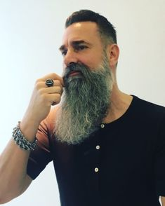The Beard & The Beautiful Beard Styles For Men, Hair And Beard Styles, Hair Styles, Grey Beards, Long Beards, Epic Beard, Full Beard, Beard Cuts, Viking Beard
