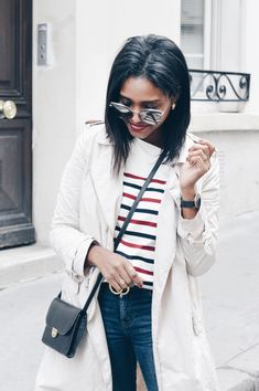 [Actu] La marinière sézane - Mademoiselle mode @Mlle_Mode Lunette Tom Ford, Personal Style, Mademoiselle Mode, Loic, Paris, Fashion, Red Stripes, Attic, Moda