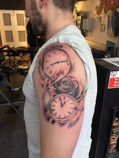 Pocketwatch tattoo #tattoo #tattoos #tats #tattooartist #ink #inked #inkedup #art #artist #tattooartist #london #londonink #northlondon #northlondonink #hornsey #aggysink Pocket Watch Tattoo Design, Pocket Watch Tattoos, Clock Tattoo Design, Tattoo Designs, Mommy Tattoos, Tattoos With Kids Names, Tattoos For Guys, Cool Arm Tattoos, Small Tattoos