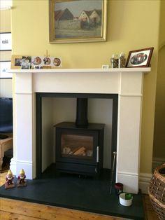 Log Burner Living Room, Wood Pellet Stoves, Stove Installation, Victorian Living Room, Multi Fuel Stove, Chimney Breast, Wood Pellets, Decorating Ideas, Decor Ideas