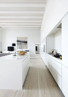 INSPIRATION: white-washed timber beams and light timber flooring: this is our kind of contemporary coastal living | est living
