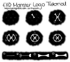 #EXO #Monster Logo Nail Art Tutorial