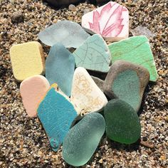 "247 Likes, 14 Comments - Kris (@805bird) on Instagram: ""#seaglass and #seapottery  #beachglass #beachpottery #seatile #seaglasshunting #beachcombing…"""