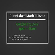 Visit Ivey Homes Furnished #modelhome at Crawford Creek | Evans, GA OPEN Sunday 1pm-6pm #betterbuilt #openhouse #newhomes #homebuilder