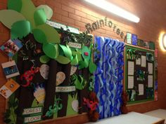 My rainforest classroom display