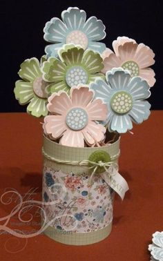 flower punch stampin up