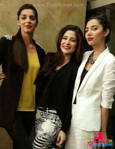صنم صعید ۔  عیشہ عمر ۔  ماھیرا خان۔  Sanam Saeed. Ayesha Omar. Mahira Khan. Pakistani Actress