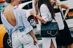 Street looks à la Fashion Week printemps-été 2016 spécial sac