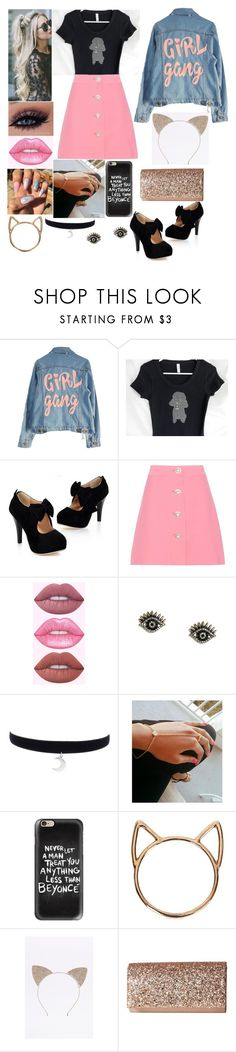 """""""Untitled #255"""" by pickle818 ❤ liked on Polyvore featuring High Heels Suicide, Miu Miu, LULUS, Casetify, Catbird and Jessica McClintock"""