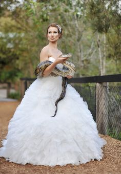 One of my favourite gowns from the @Kel-Leigh Couture shoot at the Australian Reptile Park. Wedding Photography by Andrew Hellmich of Impact Images | For more bride photos, visit http://www.impact-images.com.au/
