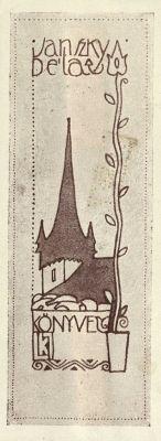 ex libris by Kozma, Lajos (1884-1948)