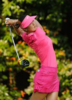 Michelle Wie Photos Photos - Michelle Wie of the United States hits her tee shot on the 12th hole during the final round of the HSBC Women's Champions at the Sentosa Golf Club on March 8, 2015 in Singapore, Singapore. - HSBC Women's Champions - Day Four