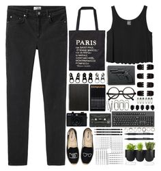 """BANKS - This Is What It Feels Like"" by annaclaraalvez ❤ liked on Polyvore featuring Acne Studios, Scotch & Soda, Soludos, Full Tilt, Muji, Revolver, Monki, Holga, Forever 21 and BOBBY"