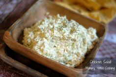 Dill Chicken Salad, using food processor for the chicken and dill mixture as opposed to normal mayo dressing.