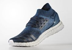 Release info for the Parley for the Oceans x adidas Ultra Boost Uncaged in a deep blue colorway (Style code: BY3057).