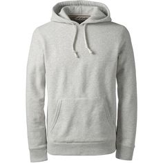 Lands' End Men's Serious Sweats Pullover Hoodie (£17) ❤ liked on Polyvore featuring men's fashion, men's clothing, men's hoodies, men, grey, mens gray hoodie, mens hoodie, mens grey hoodie, mens grey hoodies and mens sweatshirts and hoodies