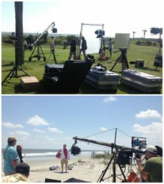 Behind the scenes at our video shoot today for @Andrea Thorp Taylor Channel  #gearguide. Excited to welcome the crew to #IsleofPalms & #Charleston!