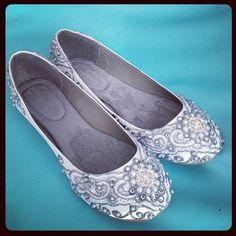 Marrakesh Lace Bridal Ballet Flats Wedding Shoes by BeholdenBridal