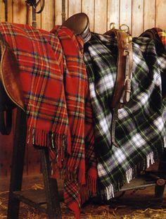 Tartan lambswool throw made in Scotland