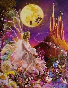Night Lights and Fairy Flights | Lionheart Designs International - Wizards Jigsaw Puzzles Theme ...