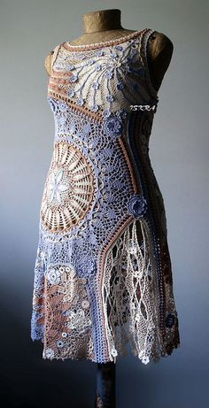 Beautiful Russian crochet dress