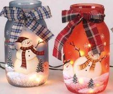 Коледна украса от буркани