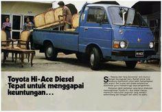 Vintage adv Toyota hi-ace indonesia