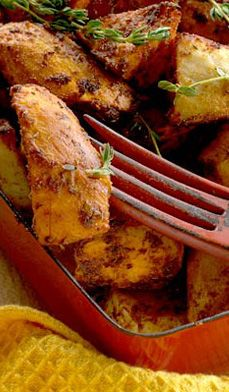 """cajun potato gems Much more fun than your regular French fries! These spicy potato """"gems"""" look impressive on a plate, but are so easy to do. Potato Gems, Potato Dishes, Food Dishes, Side Dishes, Creole Recipes, Cajun Recipes, Cooking Recipes, Healthy Recipes, Pasta Recipes"""
