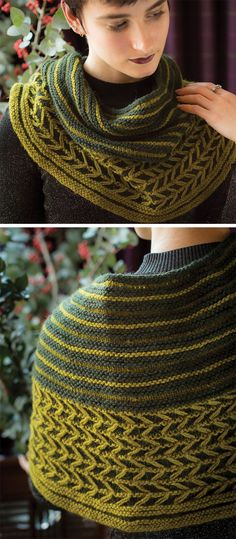 Free Knitting Pattern for Pine Sway Cowl