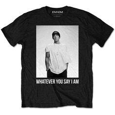 Eminem Shady Tag Girls Juniors Black T Shirt New Official Slim Soft