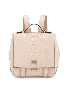 Proenza Schouler PS Small Python Backpack, Beige