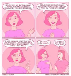 """""""I'm a feminist. It's about as far from hating men as it's possible to be."""" #feminism #feminist"""