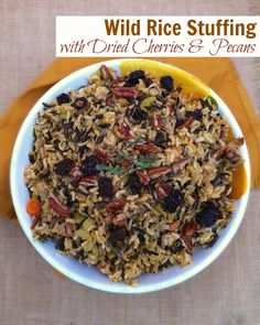 Wild Rice Stuffing with Dried Cherries & Pecans from Teaspoonofspice ...