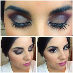 Maquillaje en tonos morados/Makeup in shades of purple