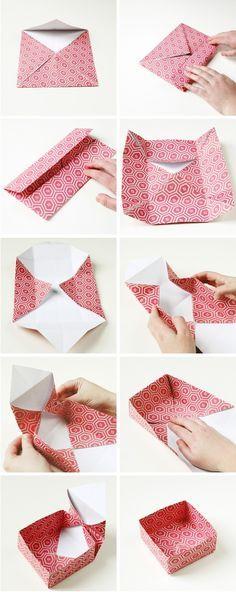 Diy cajitas de papel